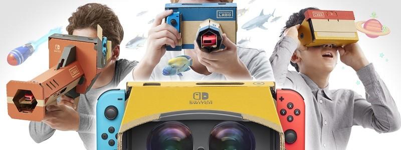 Nintendo Switch получит виртуальную реальность с Nintendo Labo VR Kit