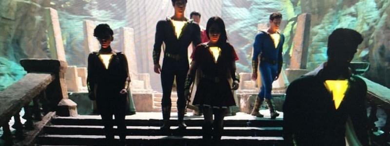 Семья Шазама на кадрах со съемок фильма DC