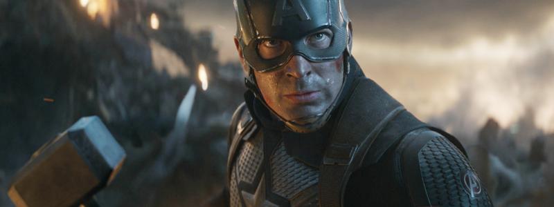 Капитан Америка делает щелчок Перчаткой на арте «Мстителей: Финал»