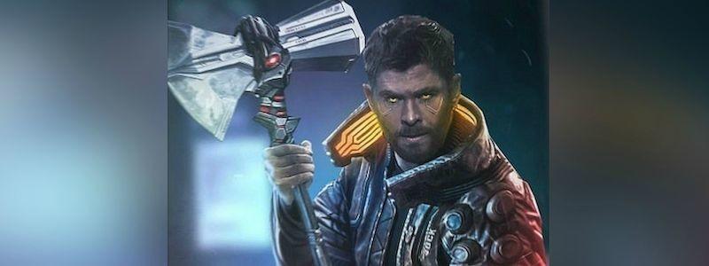 Показано, как выглядит Тор из MCU в Cyberpunk 2077