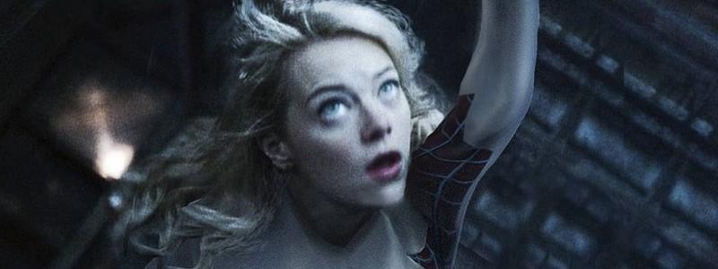 Эмма Стоун в роли Гвен-паук на фан-постере спин-оффа «Человека-паука»