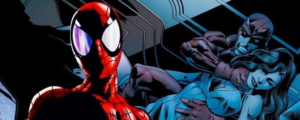 Человек-паук остановил Сорвиголову от убийства жены Кингпина