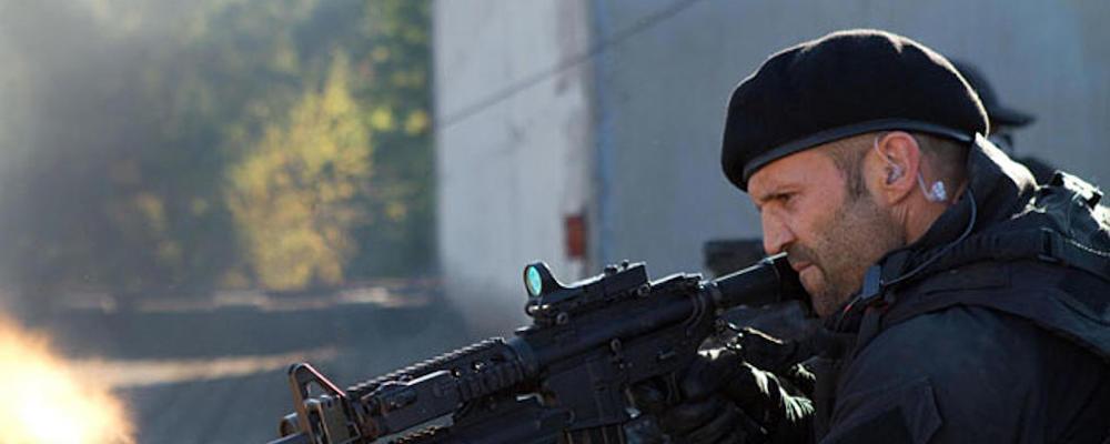 Джейсон Стейтем на первом фото фильма «Неудержимые 4»
