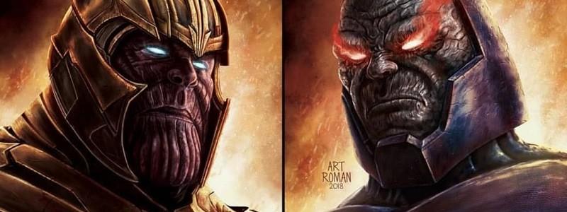Дарксайд побеждает Таноса на новом изображении