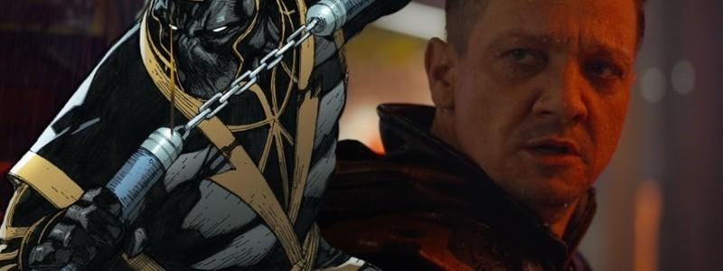 Соколиный глаз в костюме Ронина на промо «Мстителей: Финал»
