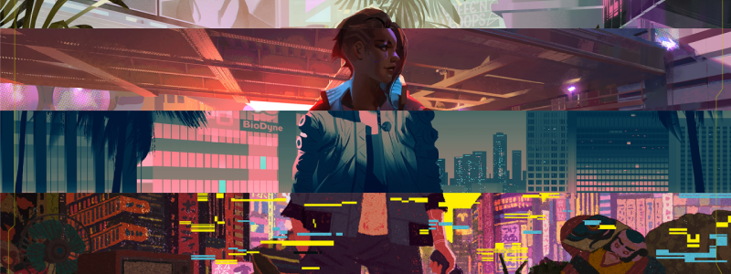 Лиззи Виззи из Cyberpunk 2077 попала на обложку CYBR Magazine