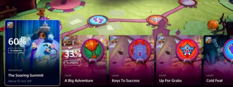 Для чего Sony добавила карточки активностей на PlayStation 5