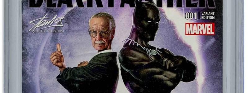 Комикс «Черная пантера» с автографом Стэна Ли продают