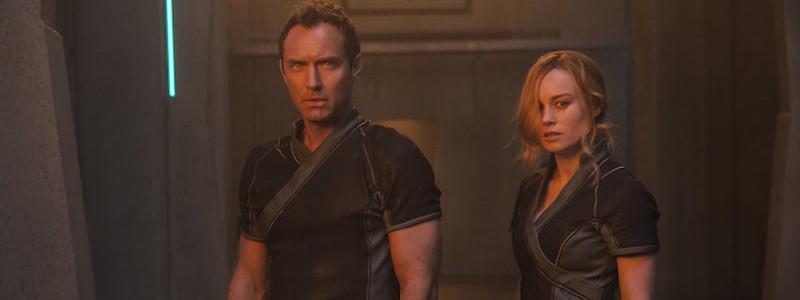 Новый кадр «Капитана Марвел» показал Джуда Лоу и Бри Ларсон