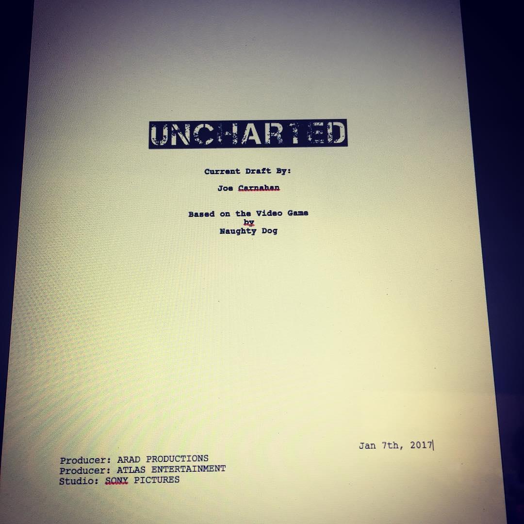 Сценарий фильма Uncharted завершен