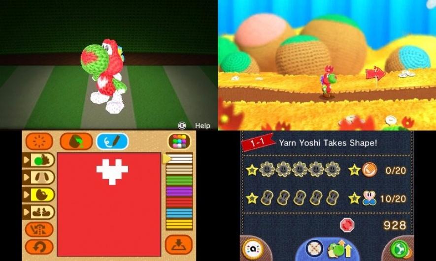 Обзор Poochy & Yoshi's Woolly World (3DS)