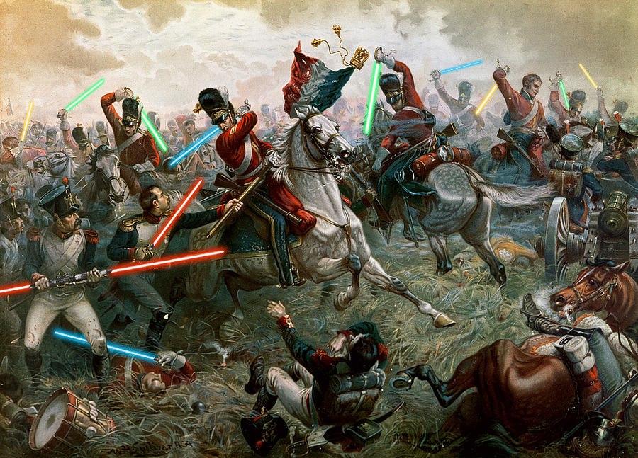 Фанат «Звездных войн» добавил лазерные мечи на классические картины 2
