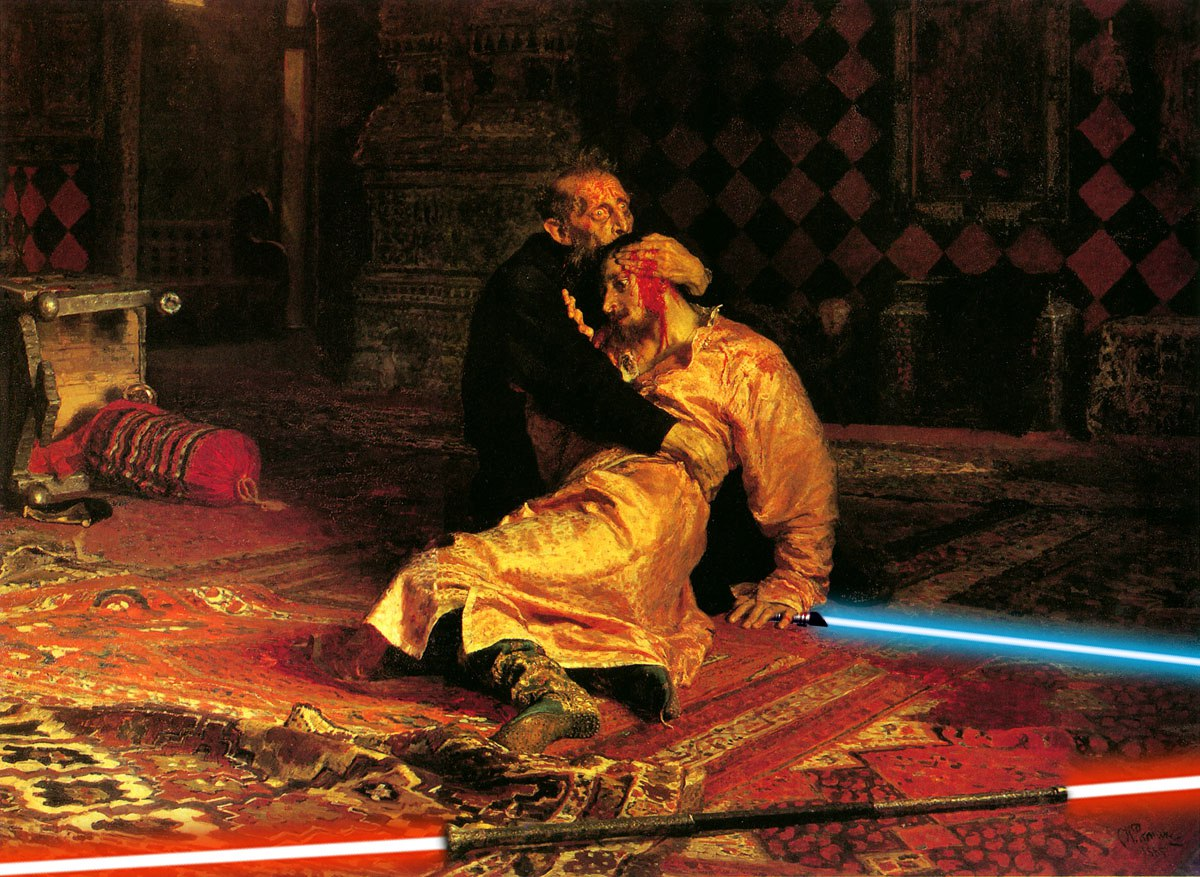 Фанат «Звездных войн» добавил лазерные мечи на классические картины 3