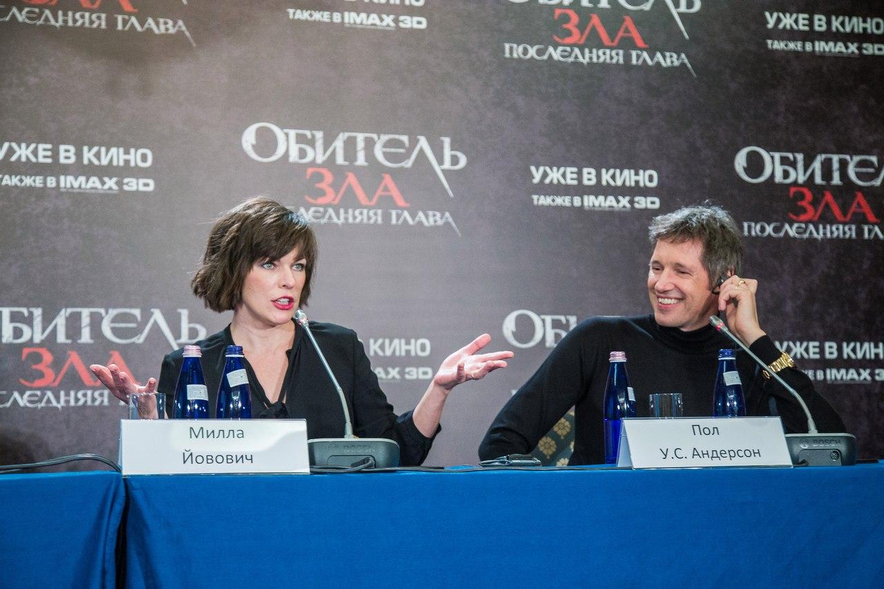 Пресс-конференция «Обитель зла: последняя глава» с Йовович и Андресоном 3