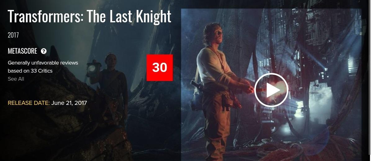 Первые оценки «Трансформеров 5: Последний рыцарь». Критики вновь ругают фильм