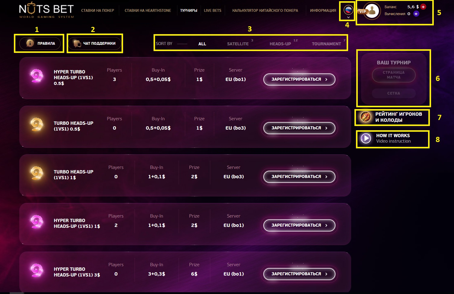 Обзор на турнирную площадку по Hearthstone NutsBet от Privet
