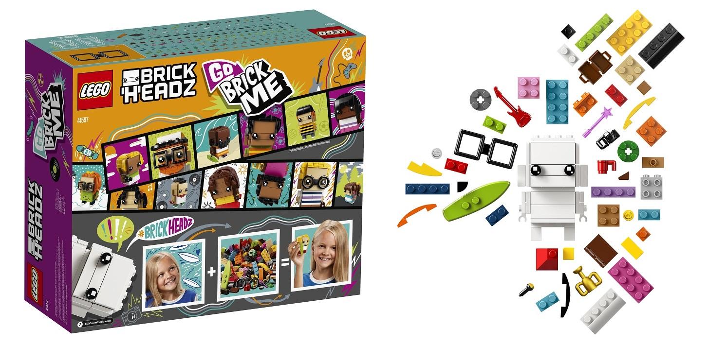 Набор LEGO BrickHeadz GoBrickMe позволяет собрать себя из кубиков