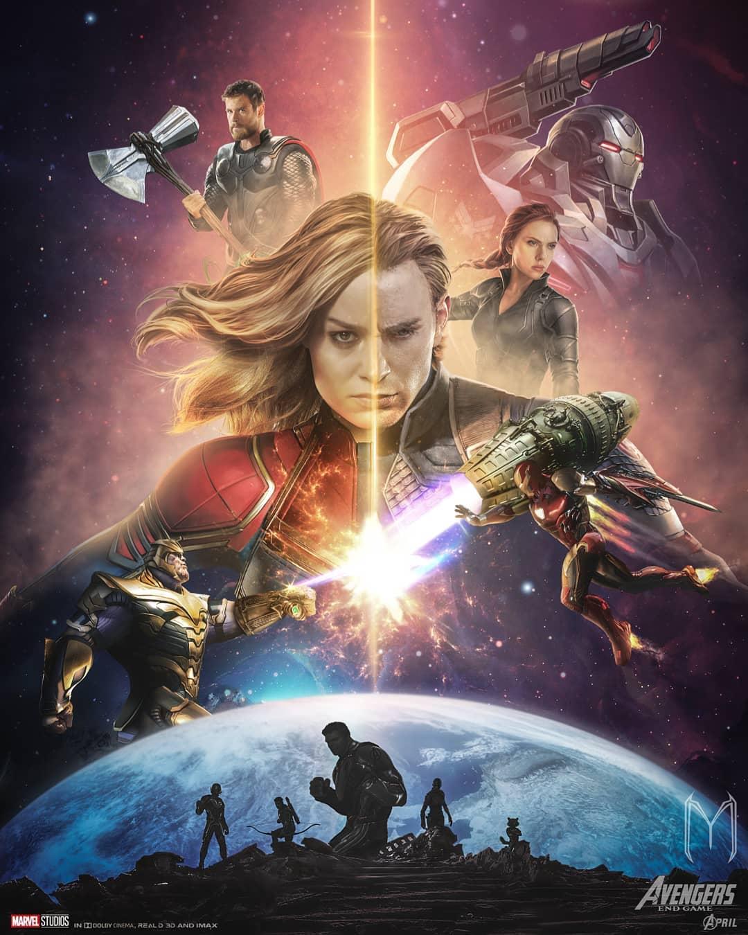 Выжившие герои на постере «Мстителей: Финал» от фаната