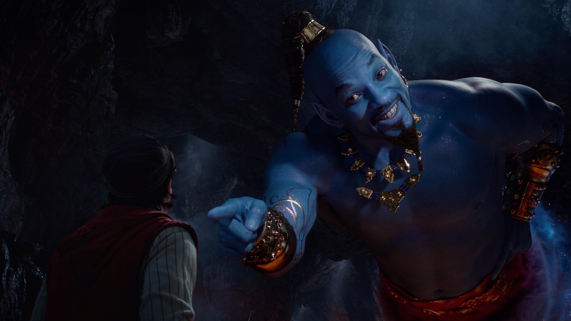 Уилл Смит в образе Джинна в новом трейлере «Аладдина»