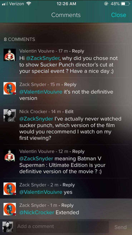 Еще один фильм Зака Снайдера был испорчен студией