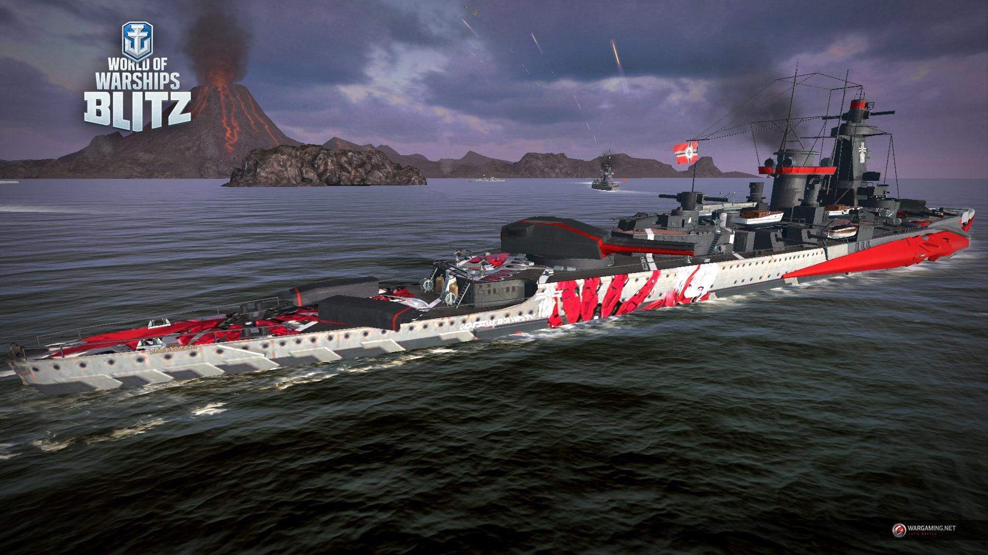 Стартовал кроссовер World of Warships Blitz и аниме-игры Azur Lane