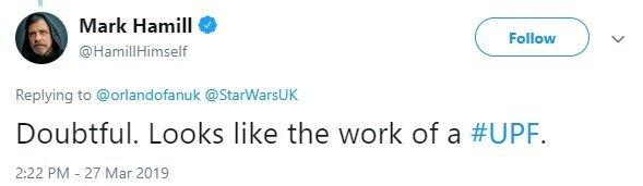 Марк Хэмилл опроверг недавнюю утечку «Звездных войн: Эпизод IX»