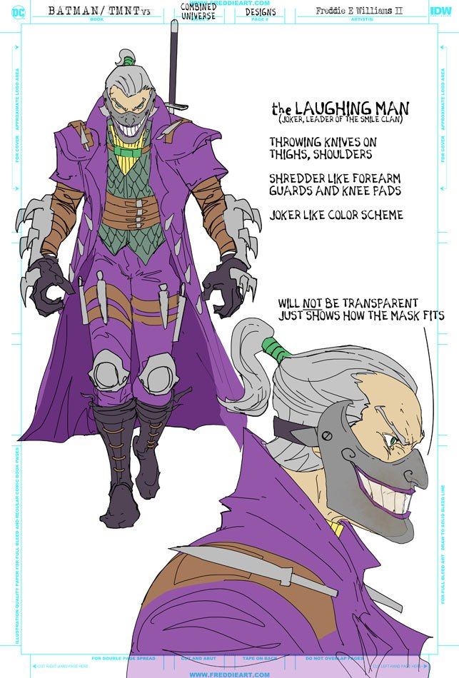 DC показали смесь Джокера и Шредера из нового кроссовера Бэтмена и Черепашек