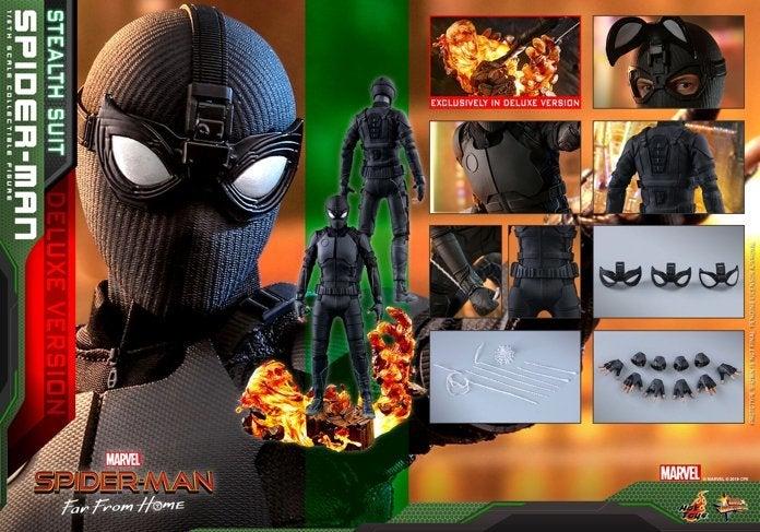 Близкий взгляд на черный стелс-костюм Человека-паука из «Вдали от дома»