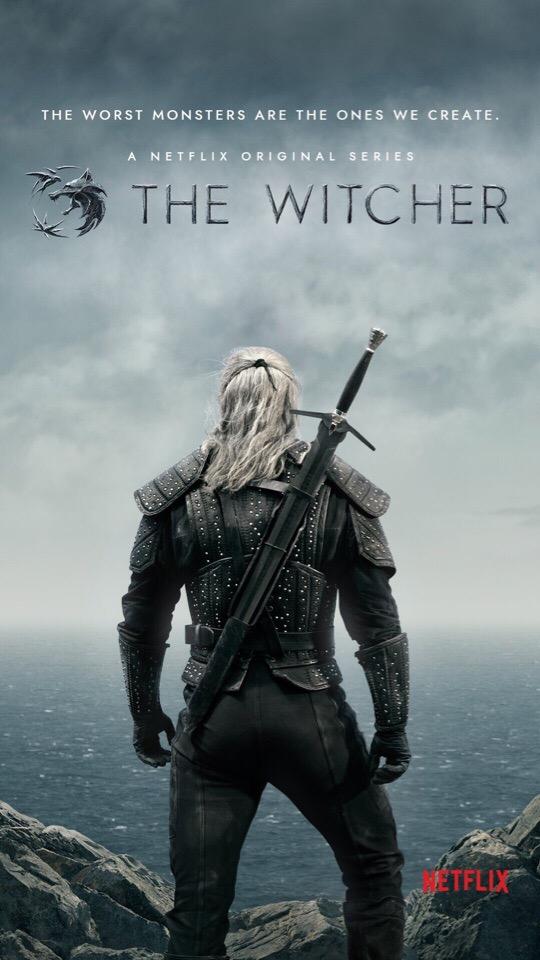 Официальный взгляд на Геральта из сериала «Ведьмак». Логотип и постер