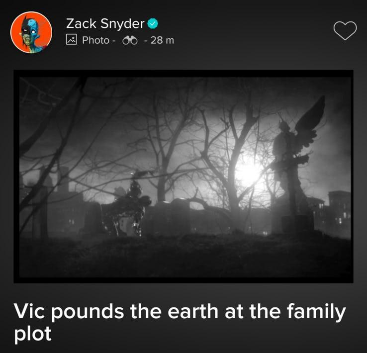 Новый кадр оригинальной «Лиги справедливости» показал могилу героя