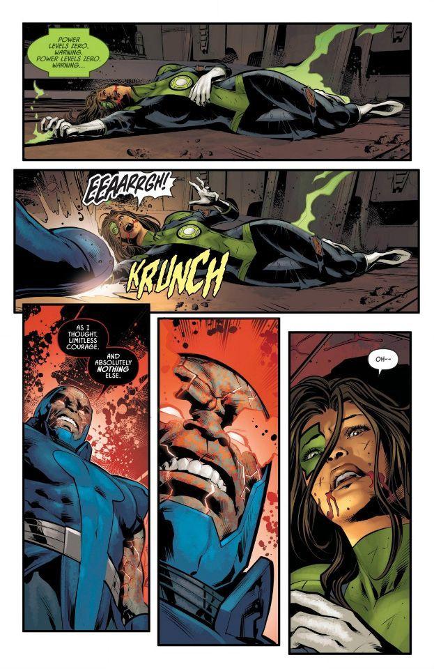 Дарксайд убил одного из Лиги справедливости