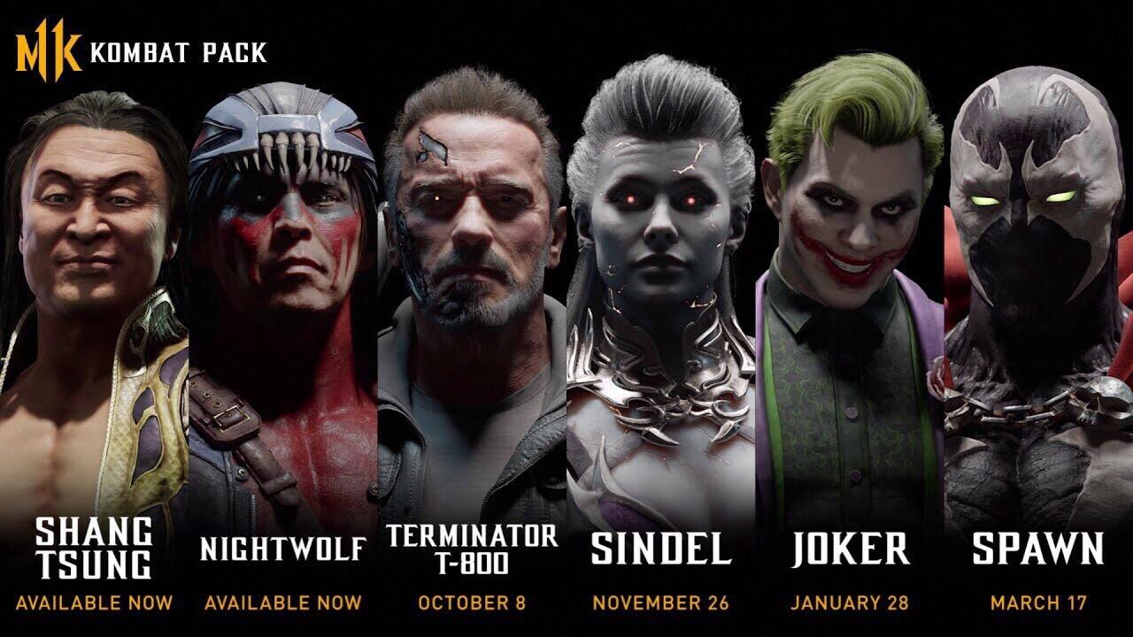 Даты выхода бойцов Mortal Kombat 11: Терминатор, Синдел, Джокер и Спаун