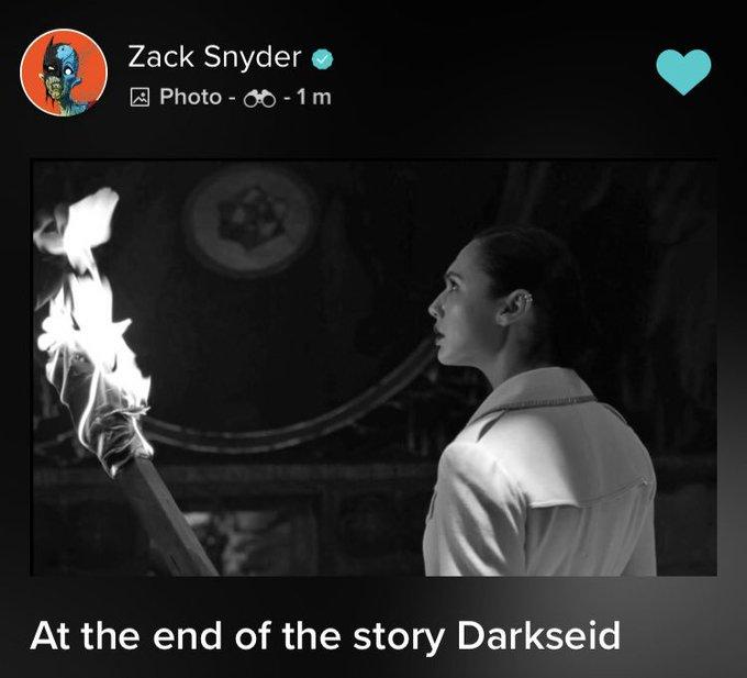 Чудо-женщина узнает о Дарксайде на кадре «Лиги справедливости» от Снайдера
