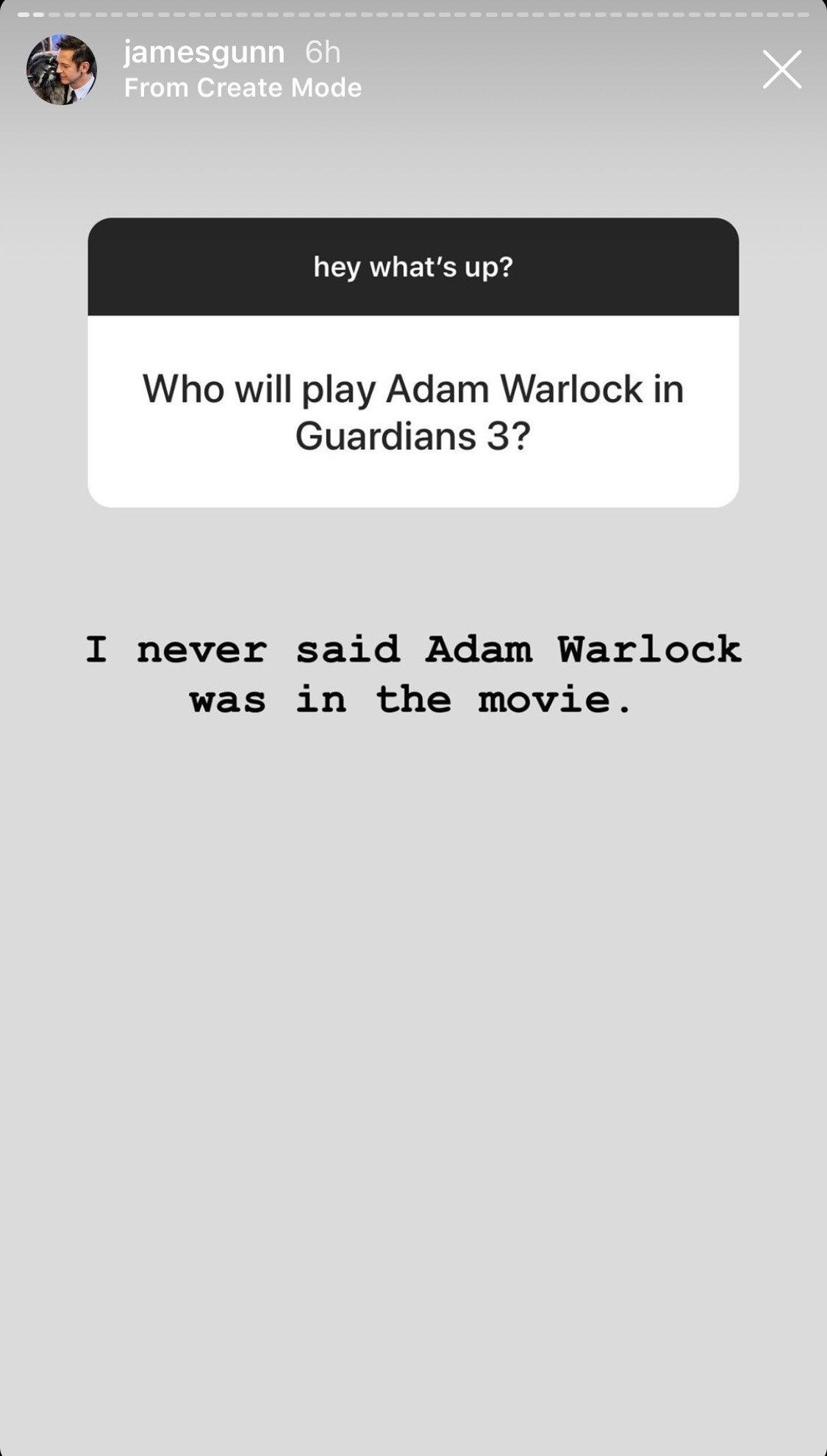 Появится ли Адам Уорлок в «Стражах галактики 3»? Ответил режиссер