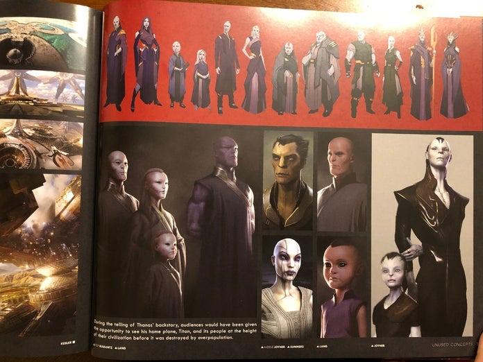 Первый взгляд на семью Таноса в киновселенной Marvel