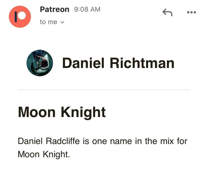 Дэниел Рэдклифф исполнит роль Лунного рыцаря