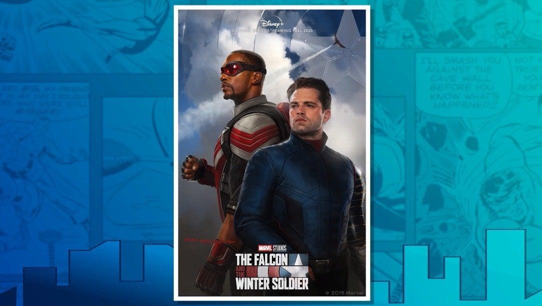 Лучший взгляд на постер сериала « Сокол и Зимний солдат»