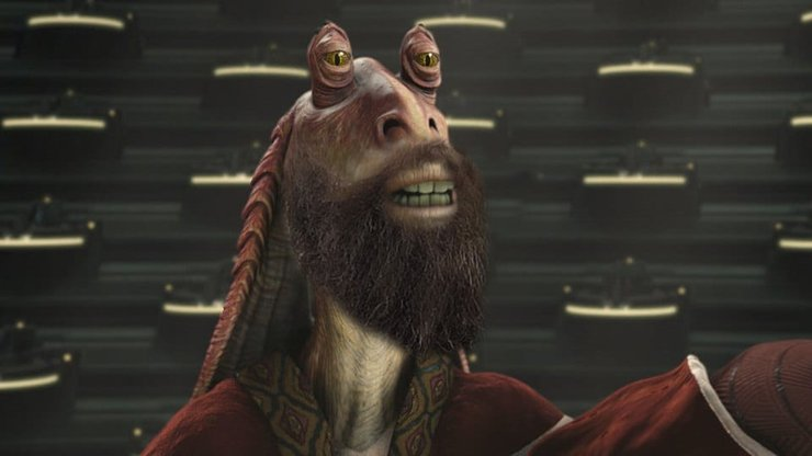 Как выглядит бородатый Джа-Джа Бинкс в сериале «Звездные войны»