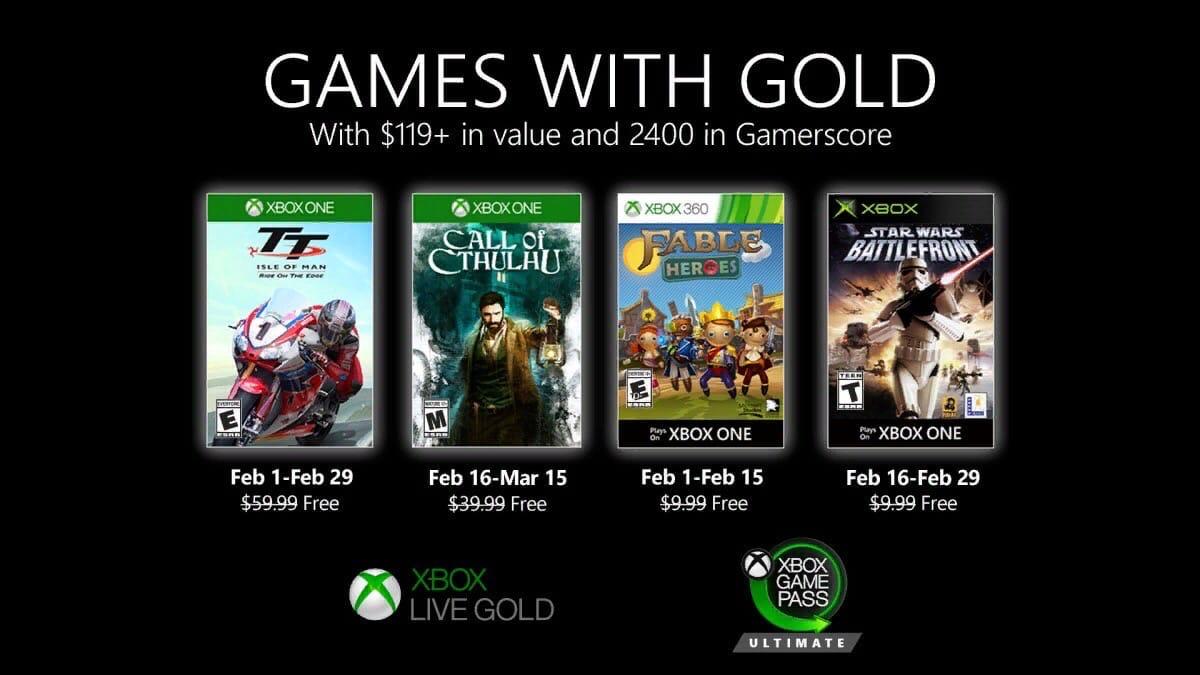 Объявлены бесплатные игры Xbox Live Gold за февраль 2020