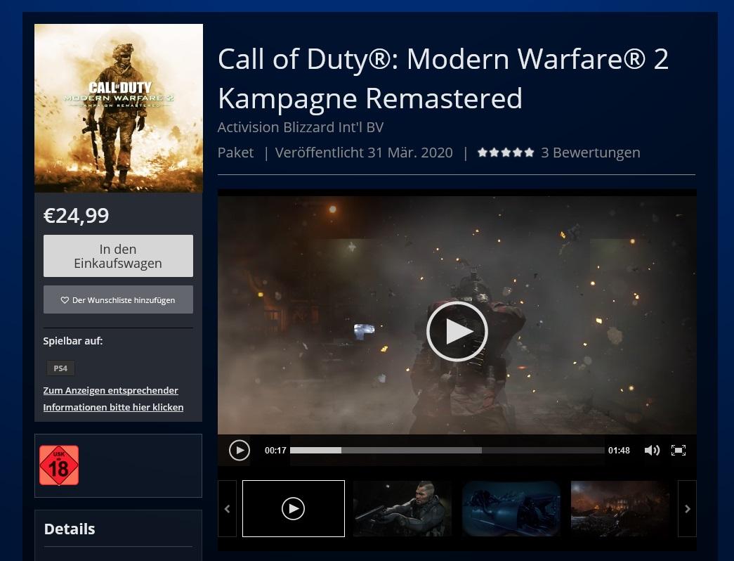 Утек трейлер CoD: Modern Warfare 2. Ремастер выйдет завтра