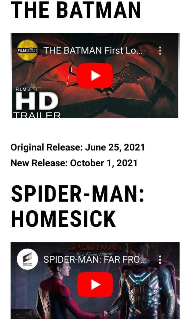 Фильм «Человек-паук 3» получил название «Тоскующий по дому»