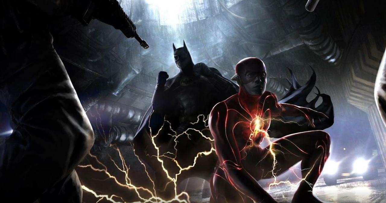 Первое изображение фильма «Флэш» с Бэтменом Майкла Китона