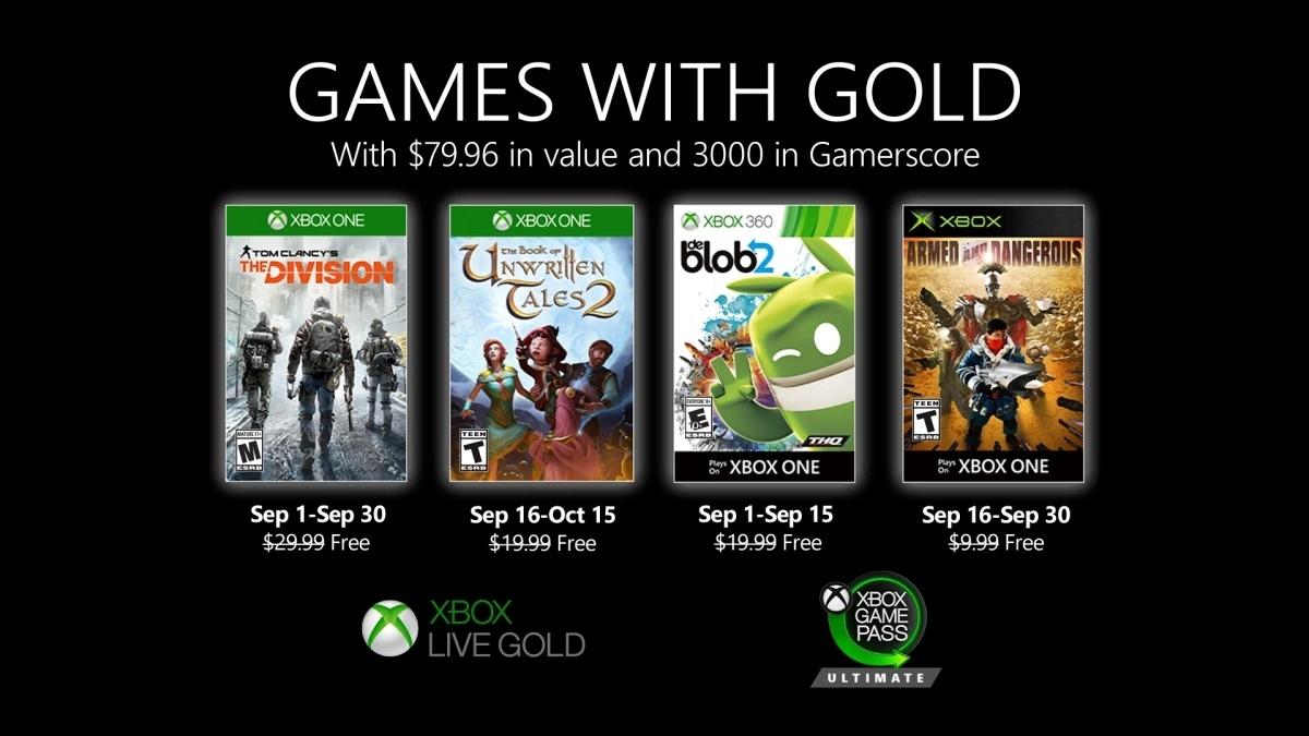 Раскрыты бесплатные игры Xbox Live Gold за сентябрь 2020