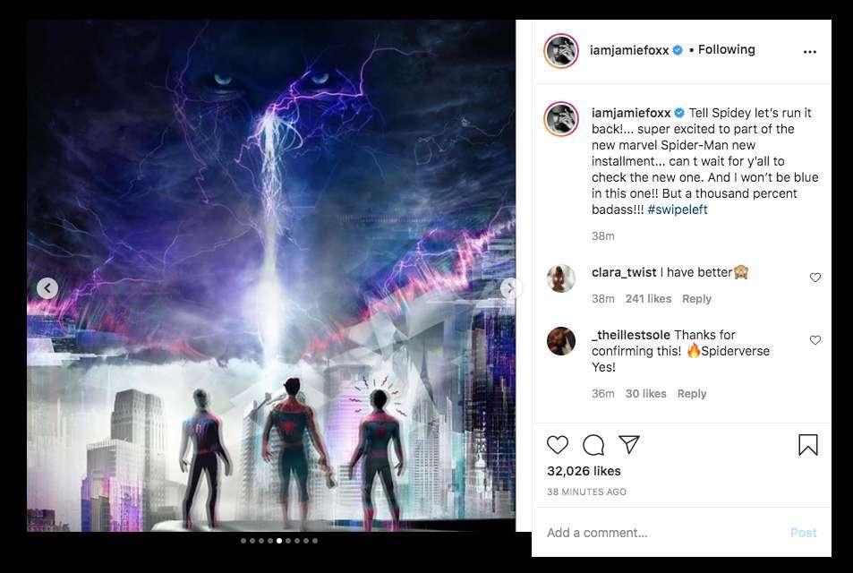 Джейми Фокс прокомментировал появление Электро в «Человеке-пауке 3»
