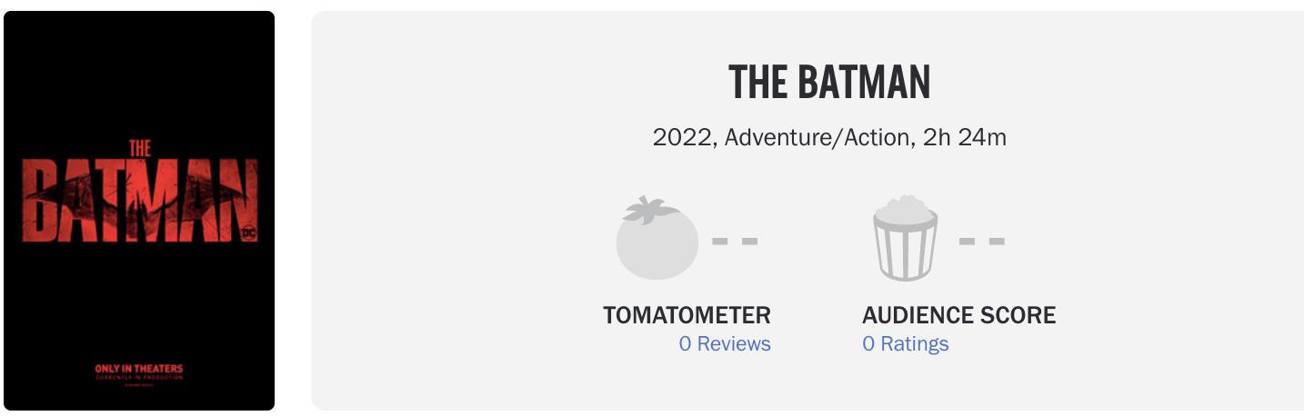 Слух: раскрыт хронометраж фильма «Бэтмен» Мэтта Ривза