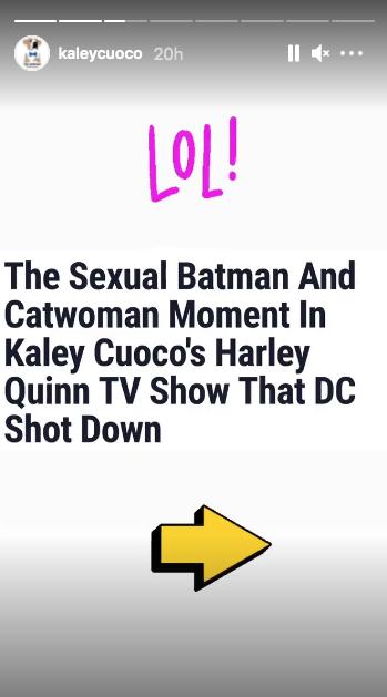Кейли Куоко отреагировала на отмененную сцену секса Бэтмена в «Харли Квинн»