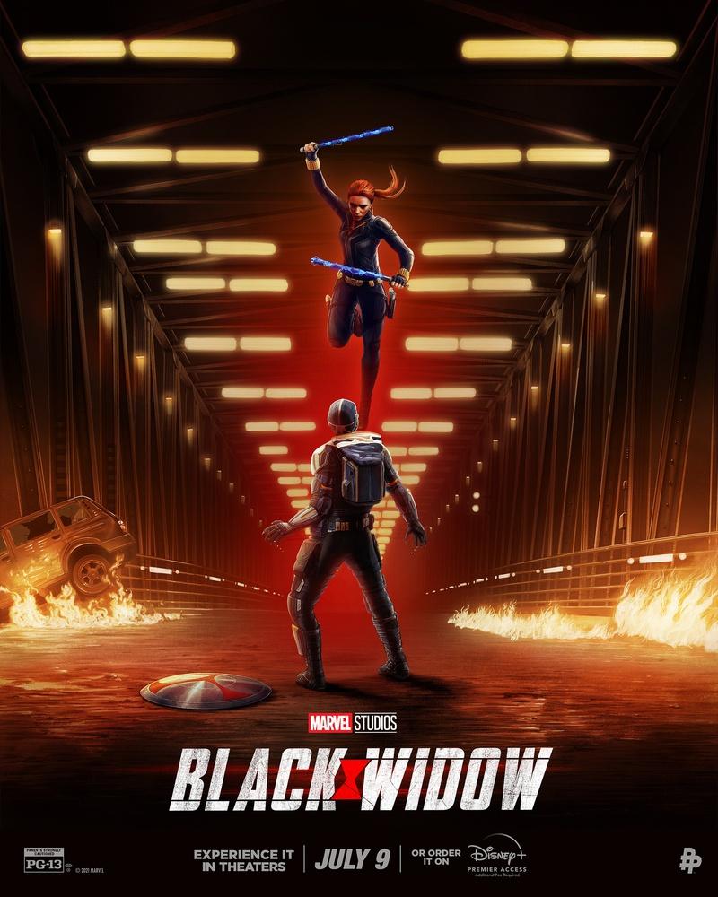 Сражение с Таскмастером на новом постере «Черной вдовы»