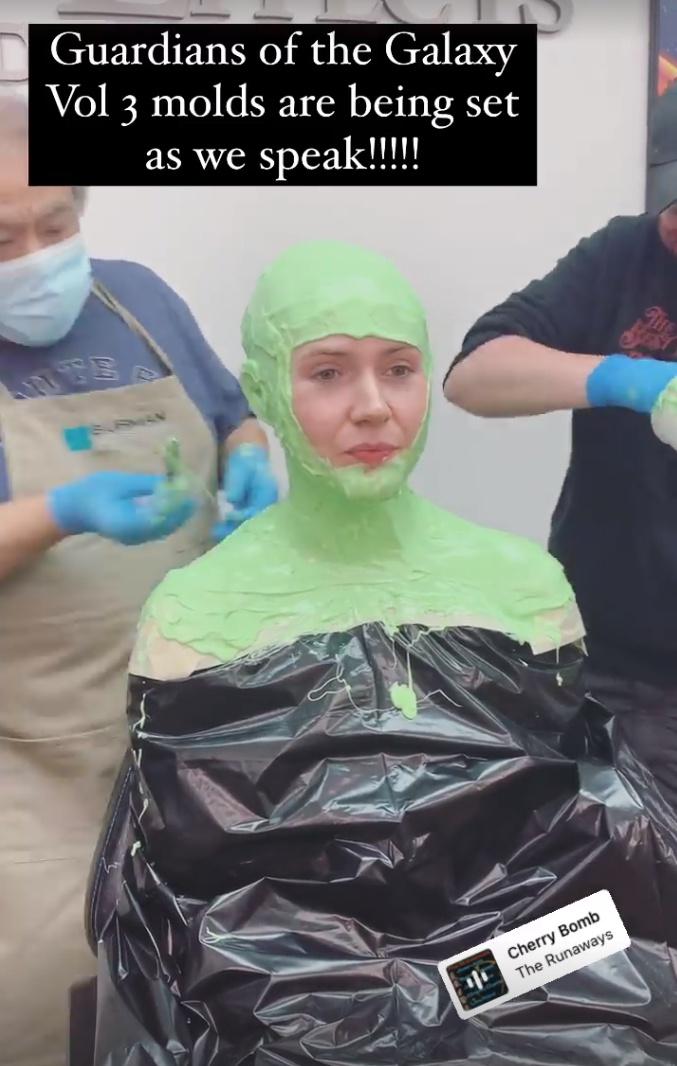Карен Гиллан показала превращение в Небулу для «Стражей галактики 3»