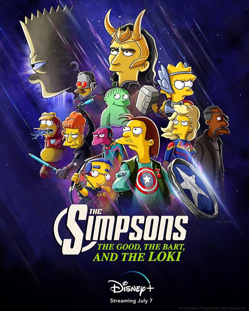 Анонсирован кроссовер Marvel и «Симпсонов» про Локи