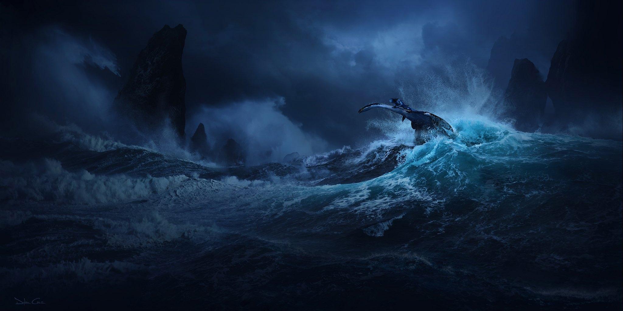 Морской конь и главный герой на новом изображении «Аватара 2»